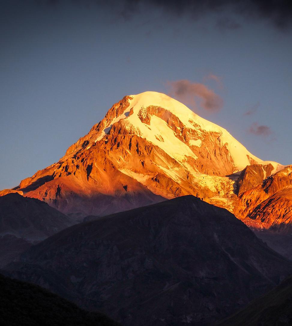 Гора Казбек. Изображение dmitry_zen с сайта Pixabay